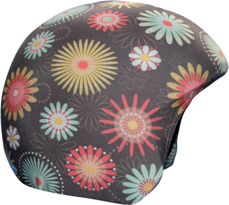 Coolcasc Printed Cool Ski/Snowboard Helmet Cover, One Size, Flowers