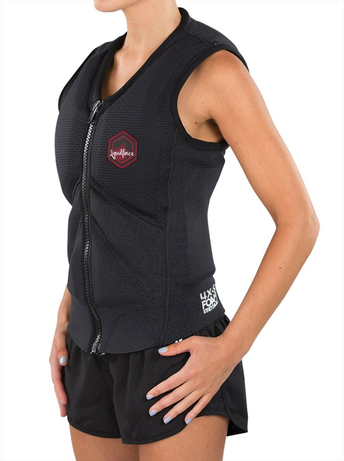 Liquid Force Z Cardigan Ladies Wakeboard Impact Vest, S Black 2019