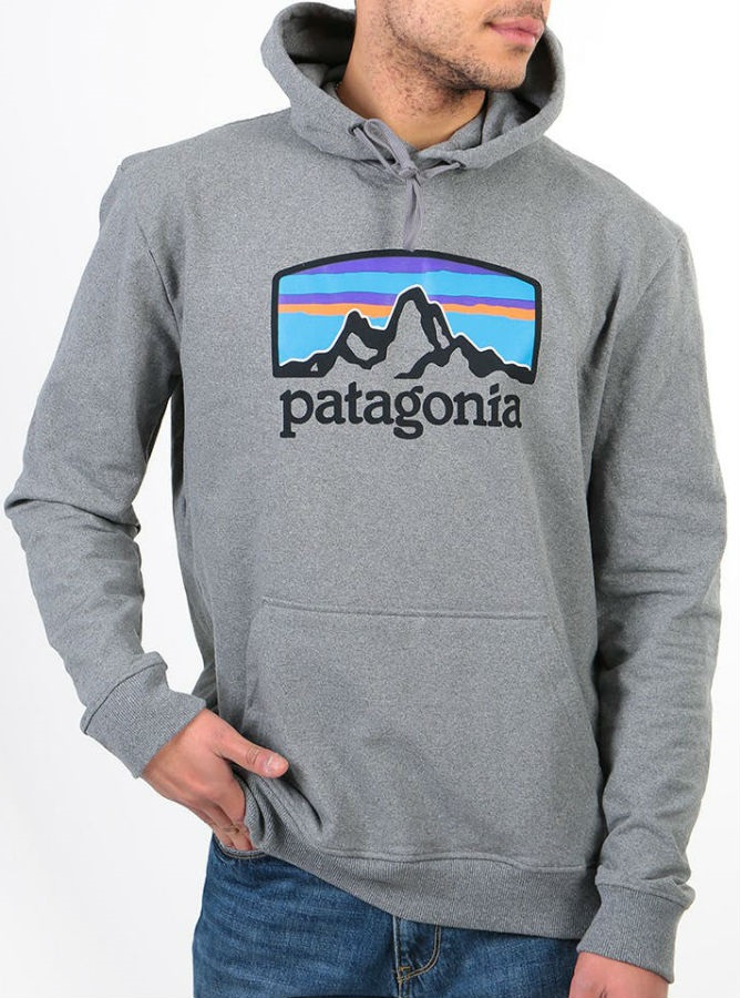 Patagonia Fitz Roy Horizons Uprisal Pullover Hoodie, S Gravel Heather