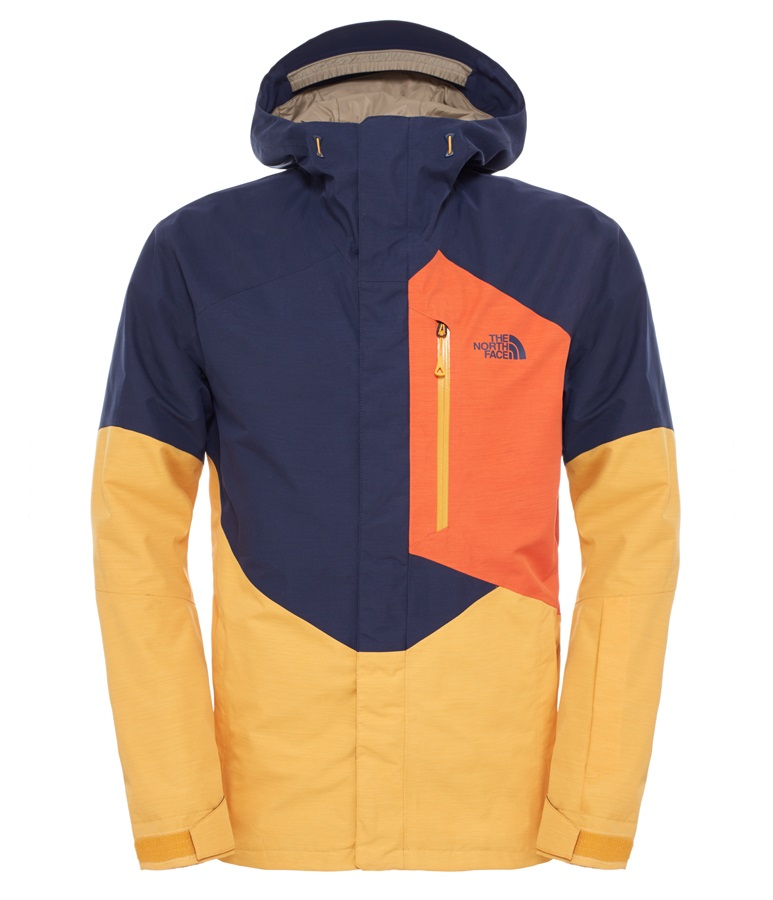 9eacac3df The North Face NFZ Insulated Ski/Snowboard Jacket, L, Blue/Yellow