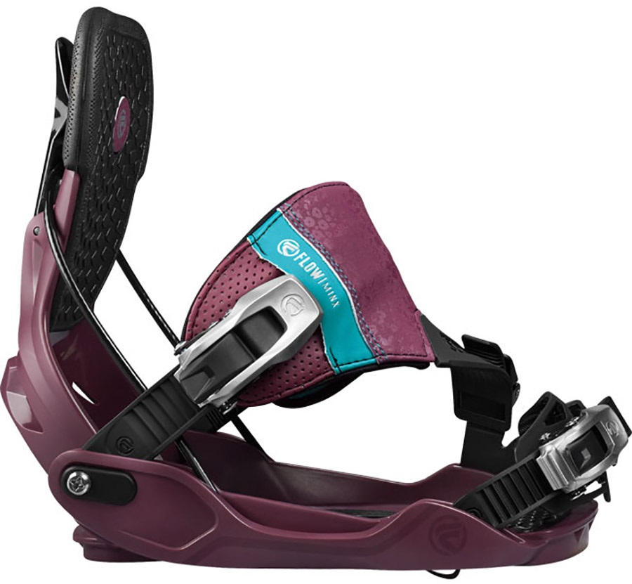 Flow Minx Women's Snowboard Bindings, M, Berry, Hybrid, 2017