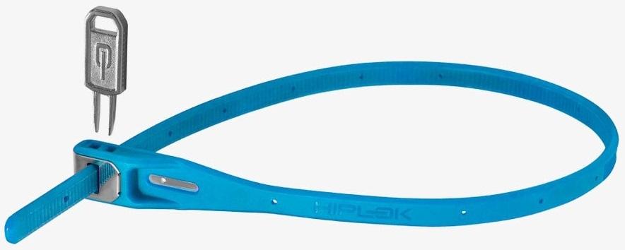 Hiplok Z Lok Steel Core Cable Tie Key Lock, 40cm Cyan