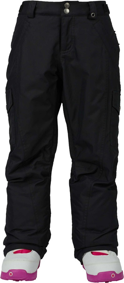 Burton Girls/Boys Elite Cargo Ski/Snowboard Pants, M, Age 10/12, Black