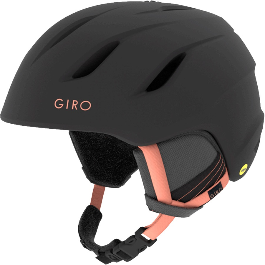 Giro Era MIPS Women's Snowboard/Ski Helmet, S Matt Black/Peach