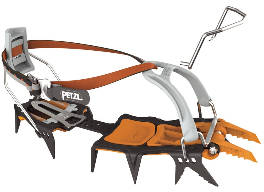Petzl Lynx Ice & Mixed Climbing Crampon, UK 2-10.5 Orange/Black
