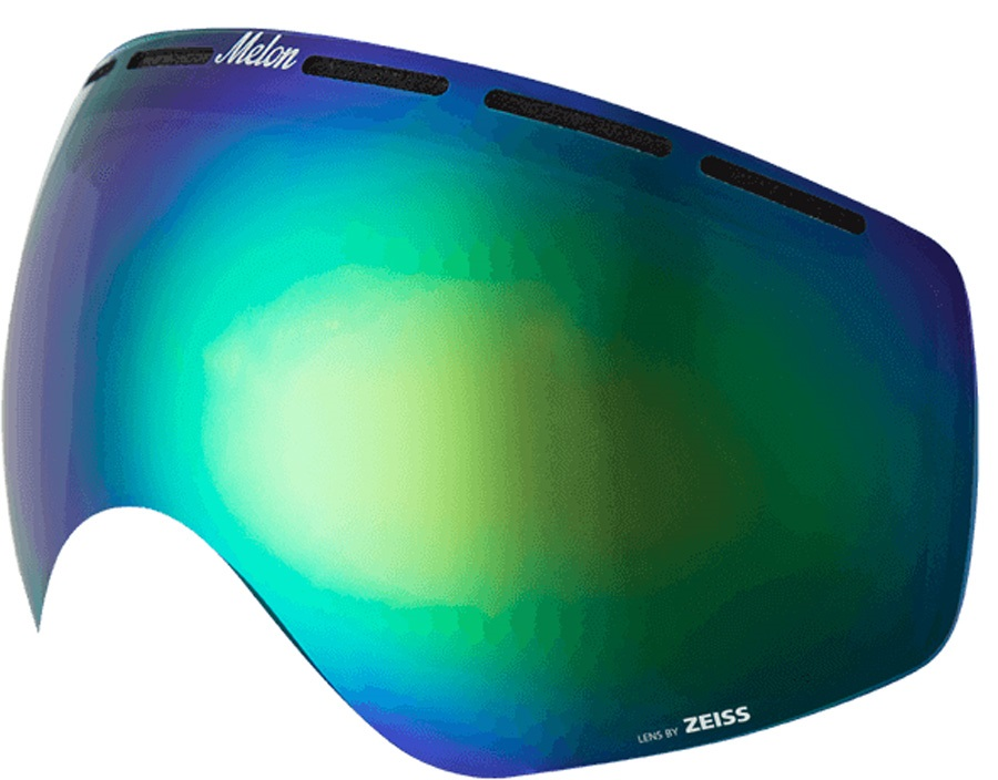 Melon Chief Ski/Snowboard Goggle Lens, One Size Green Chrome
