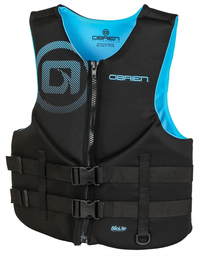 O'Brien Traditional Neo Ski Impact Vest Buoyancy Aid, XXL Cyan 2020