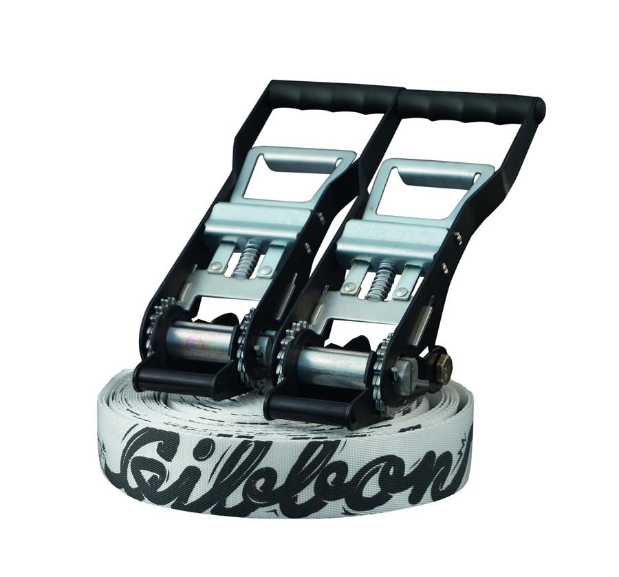 Gibbon Andy Lewis Trickline X13 Slackline Set, 27m X 50mm, White