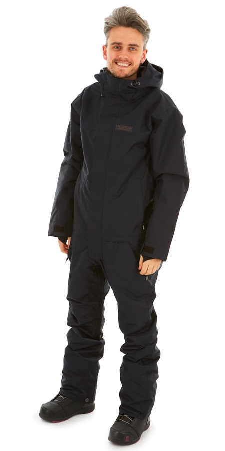 Airblaster Insulated Freedom Ski/Snowboard Onepiece Suit, XL Black