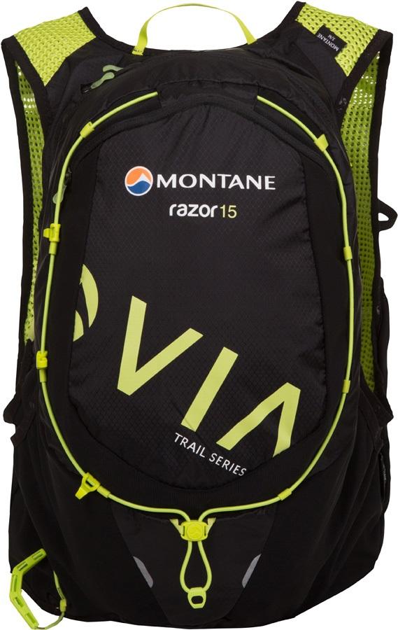 Montane VIA Razor 15 Trail Running Vest Backpack, M/L Black