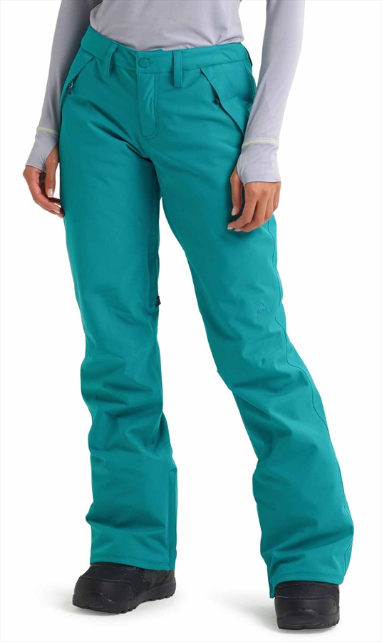 Burton Society Women's Snowboard/Ski Pants, S Green/Blue Slate