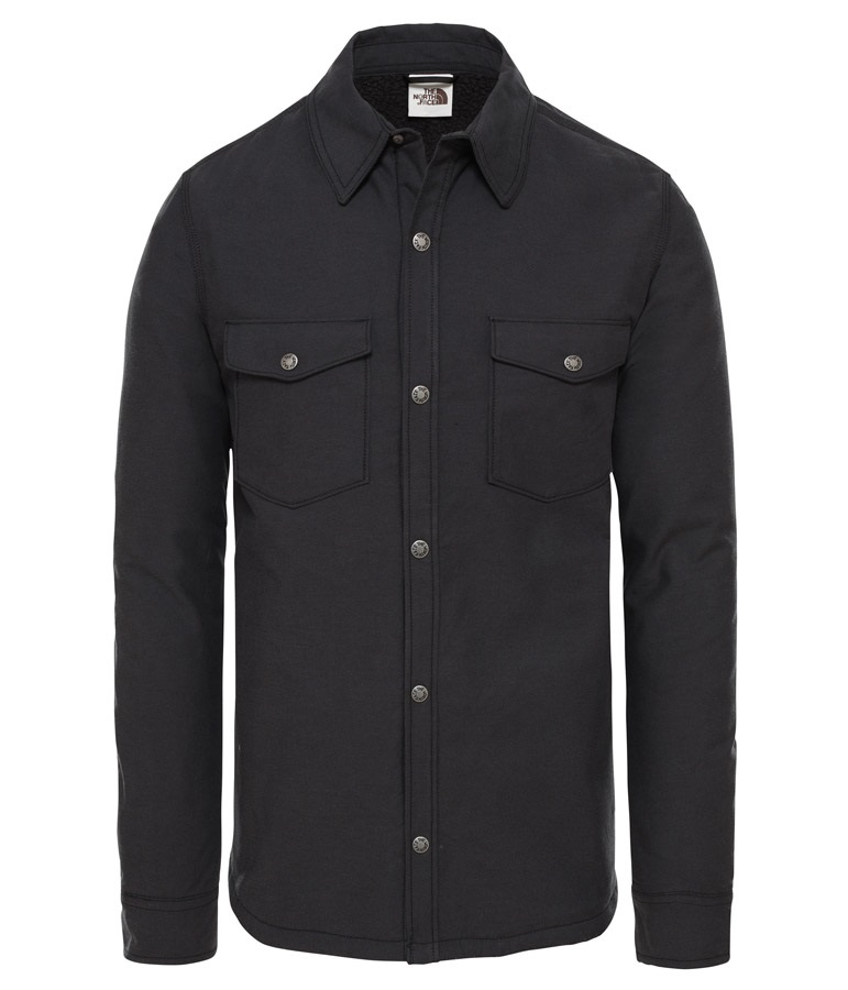 The North Face Campshire Fleece Flannel Shirt, S TNF Black