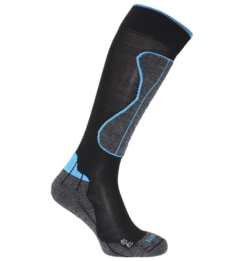 Horizon Wintersport Technical Merino Socks, UK 6.5-9, Black/Turquoise