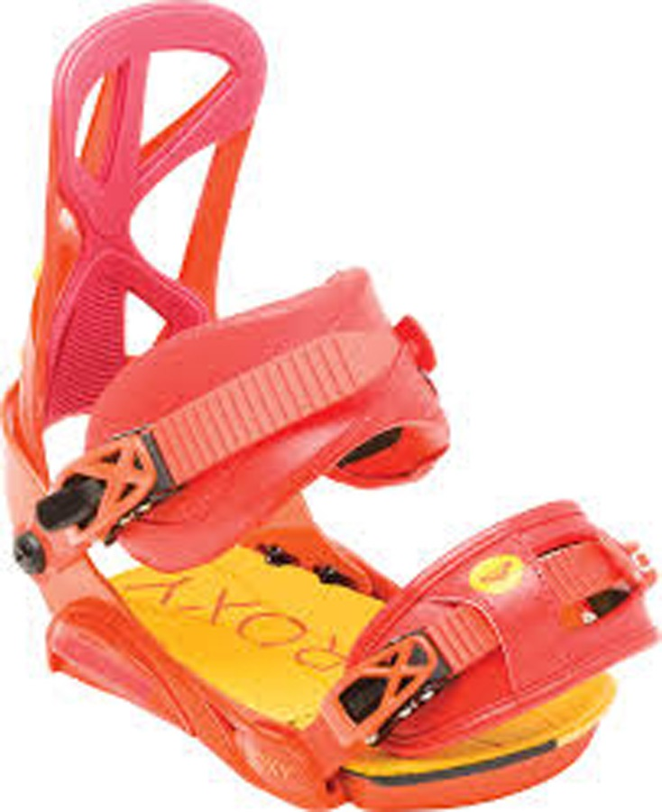 Roxy Womens TEAM Women's Snowboard Bindings, S/M Orange 2016