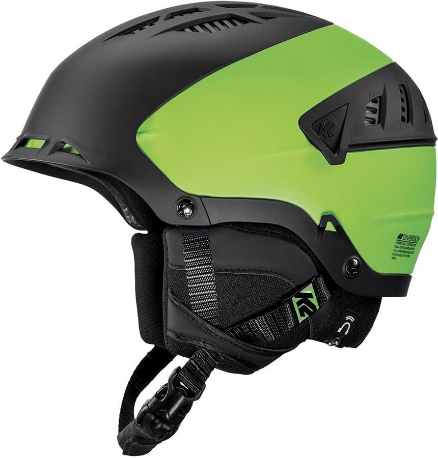 K2 Adult Unisex Diversion Ski/Snowboard Helmet, S Black/Green