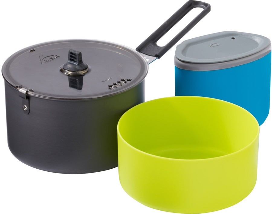 MSR Trail Lite Solo Cook Set Camping Cookware, 1 Person Black