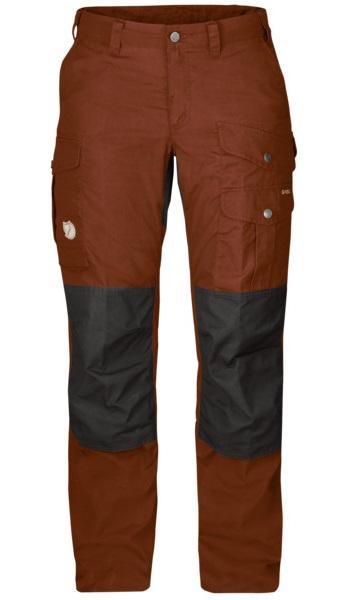 Fjallraven Barents Pro Women's Hiking Trousers, 36 Autumn Leaf/Grey