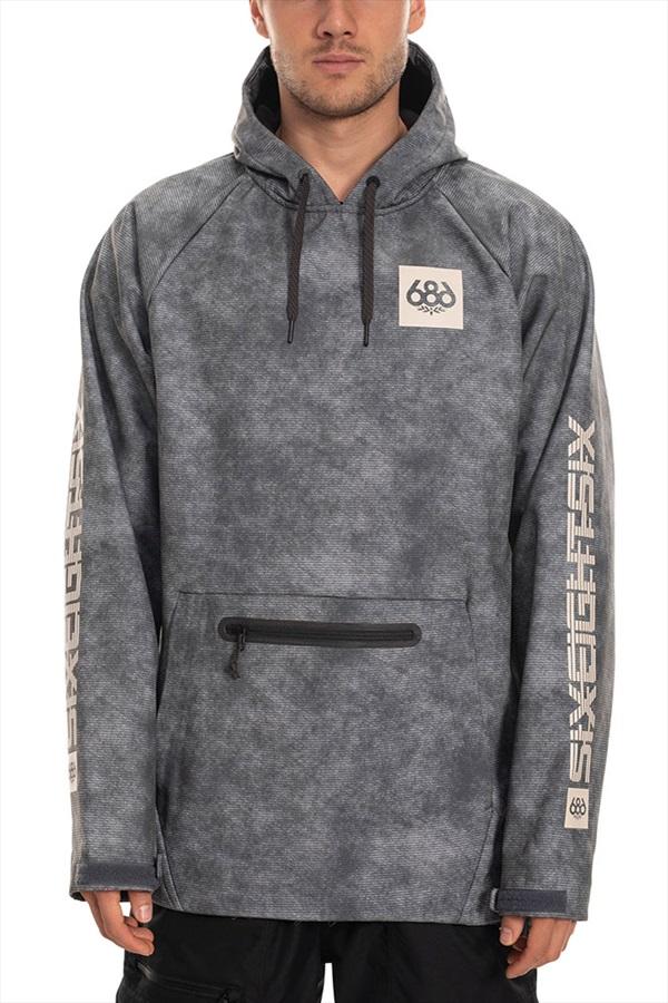 686 Waterproof Hoodie Ski/Snowboard Jacket, XL Charcoal Wash