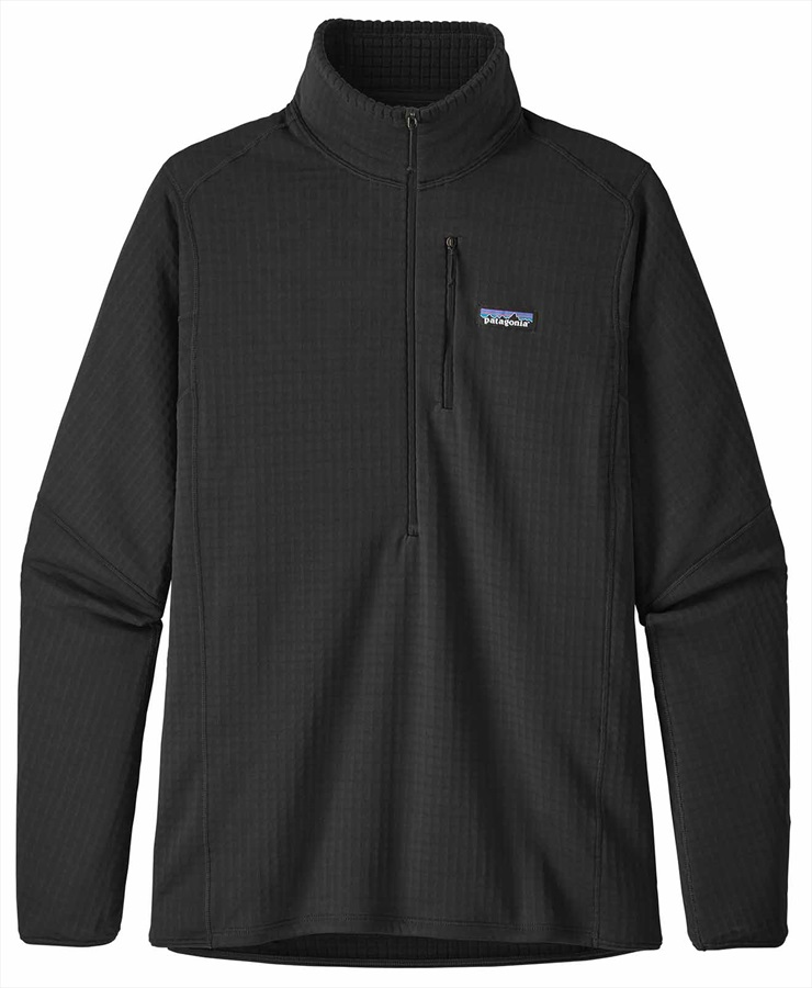 Patagonia Adult Unisex Men's R1 Pullover Mid-Layer Jumper, XL Black