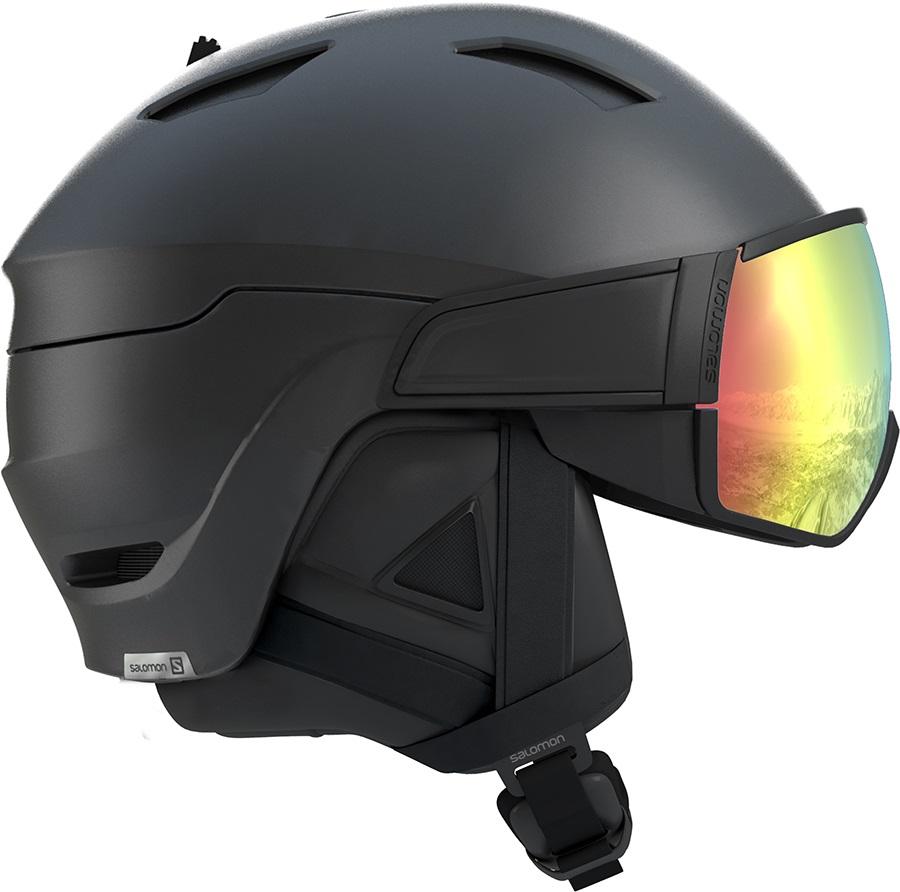 Salomon Adult Unisex Driver+ Photo Ski/Snowboard Helmet, M Black