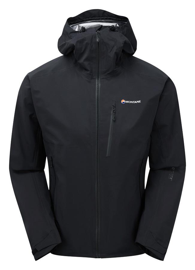 Montane Fleet Gore-Tex Active Weatherproof Mountain Jacket, L Black