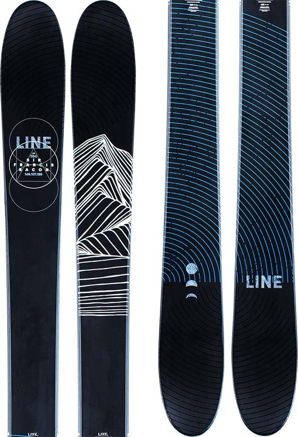 LINE Adult Unisex Sir Francis Bacon Skis 184cm, Black/Blue, Ski Only, 2021