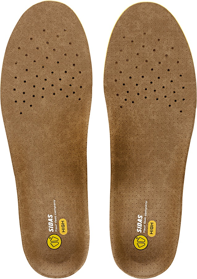 Sidas 3Feet Outdoor High Hiking/Walking Insoles, S Brown/Yellow