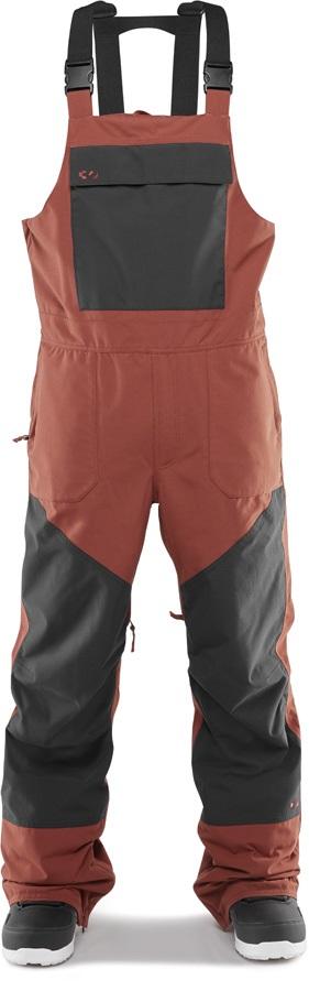 thirtytwo Basement Bib Snowboard/Ski Pants, M Brick 2020