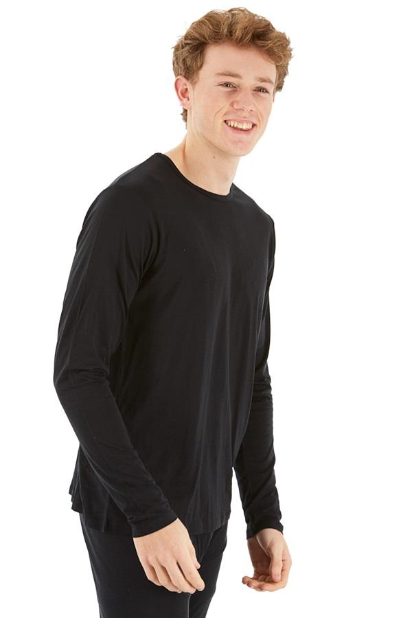 Silkbody Silkspun Long Sleeve Baselayer Top, M Black