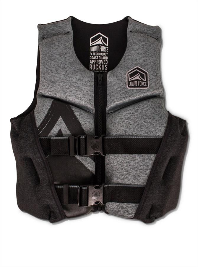 Liquid Force Ruckus Kids CGA Buoyancy Vest, Youth Small Blck Grey 2019