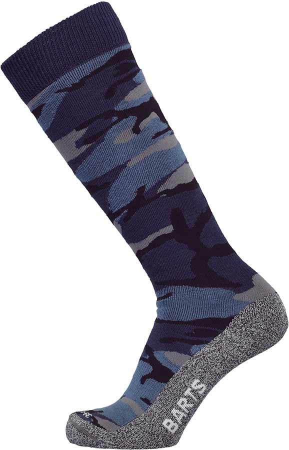 Barts Skisock Camo Ski/Snowboard Socks UK 2-5 Blue