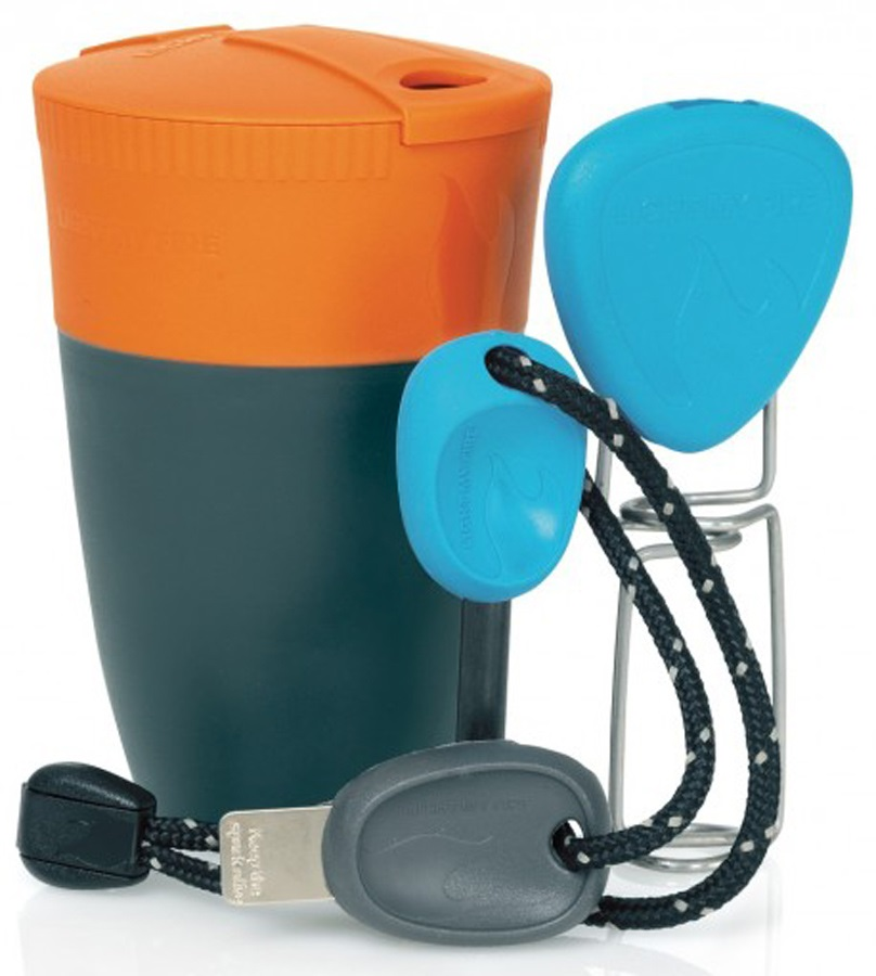 Light My Fire Grill 'N Chill Kit Campfire Utensil Set, Orange/Blue