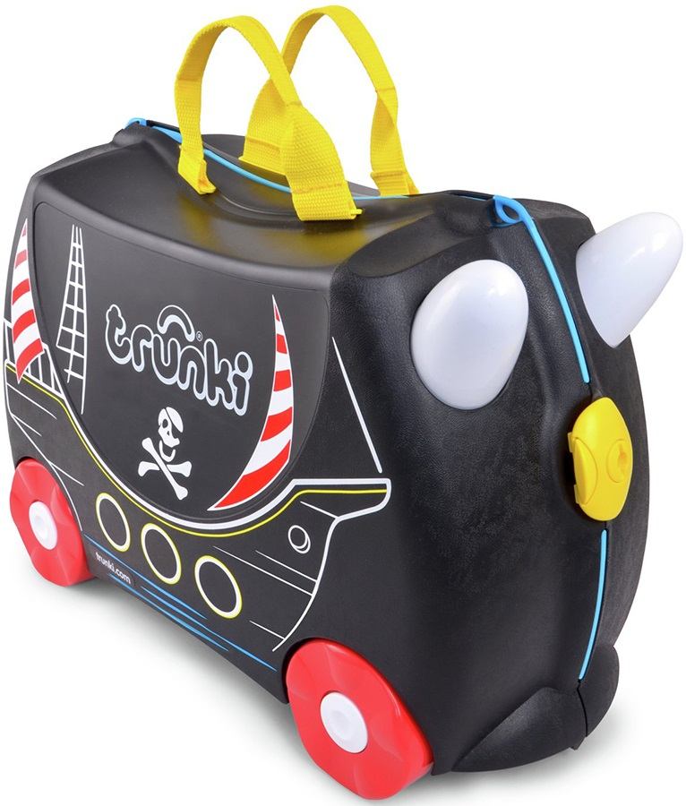 Trunki Pedro The Pirate Ship Kid's Wheeled Hand Luggage, 18L Black