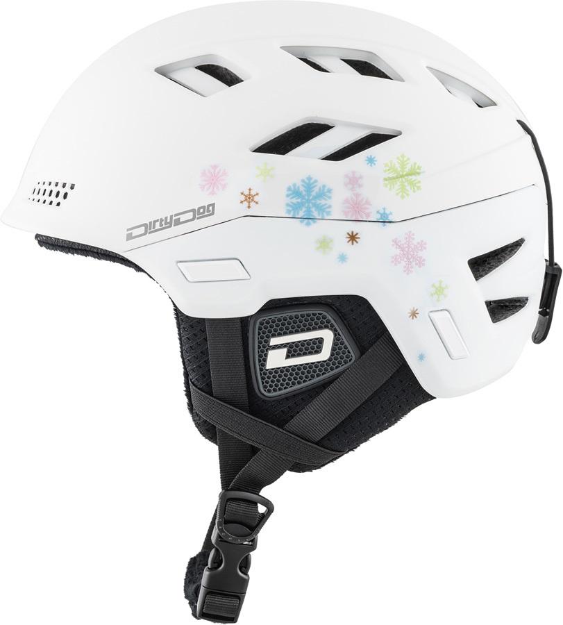 Dirty Dog Zodiak Snowboard/Ski Helmet, S Matte White
