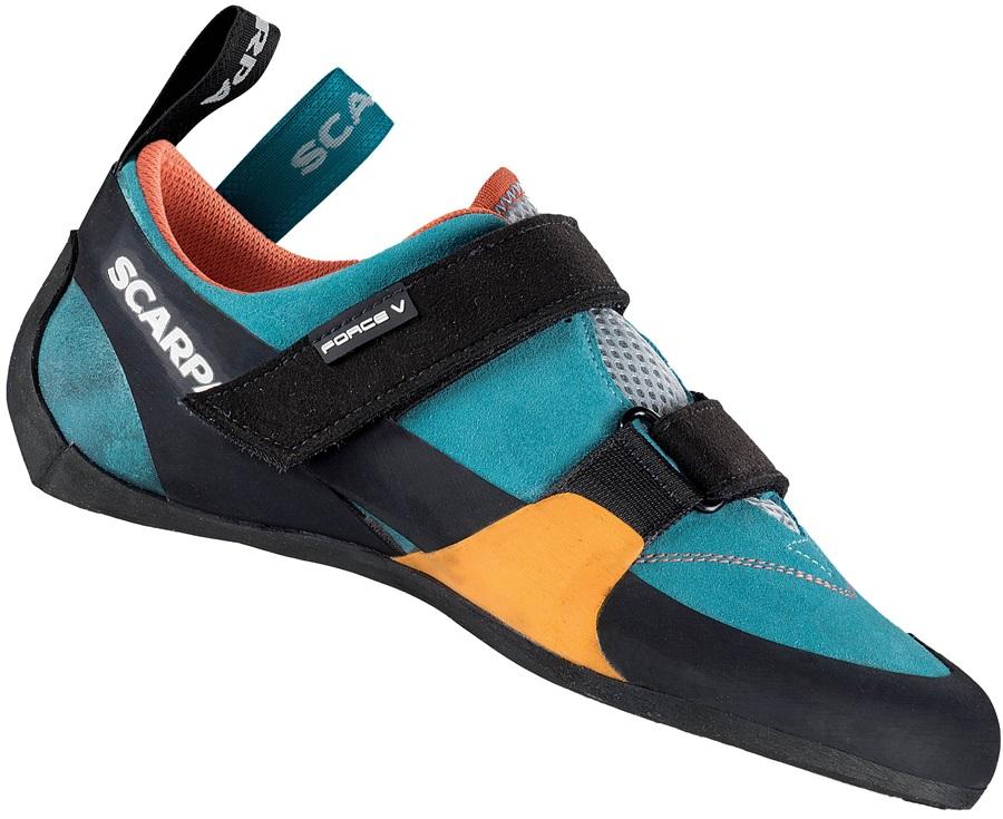 Scarpa Women's/Low Volume Force V Rock Climbing Shoe UK 2.75 Blue