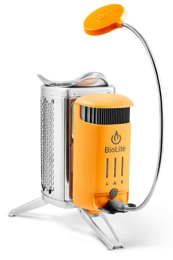 BioLite CampStove 2 Biomass Woodburner Stove & USB Charger, Orange