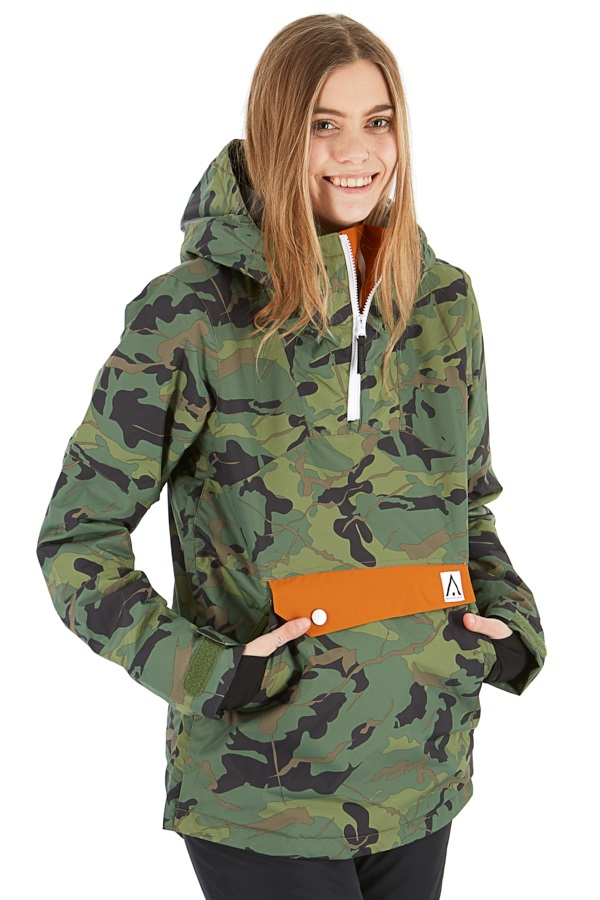Wearcolour Homage Anorak Women's Snowboard/Ski Jacket M Dark Forest