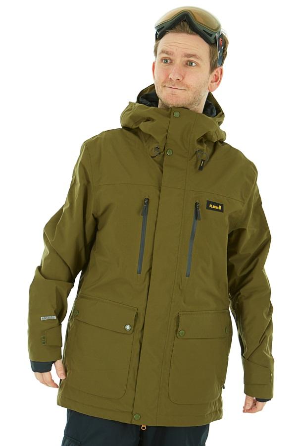 Planks Good Times Ski/Snowboard Jacket, M Army Green