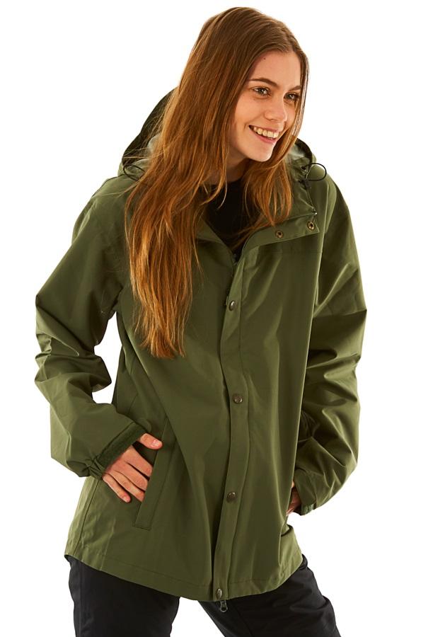 Airblaster Rainbreaker Women's Ski/Snowboard Jacket, L Olive