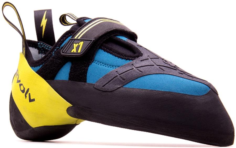 Evolv Adult Unisex X1 Rock Climbing Shoe, UK 9.5 Seafoam/Neon Yellow