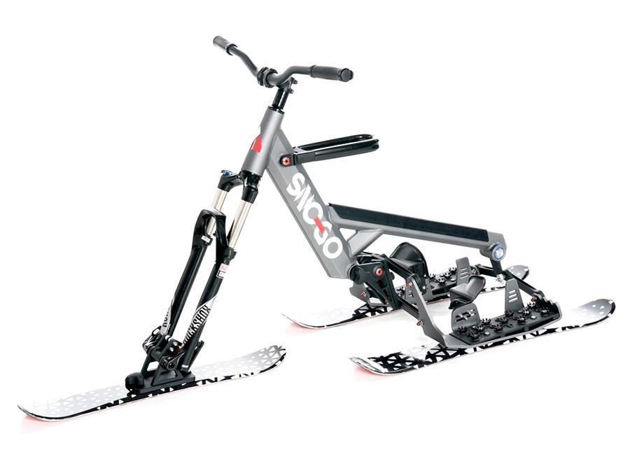 Sno-Go Ski Bike Downhill Snow Bike / Skibob, Grey