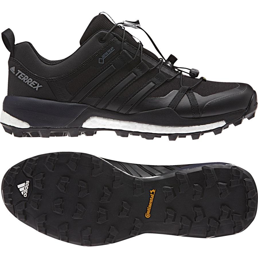 Adidas Terrex Skychaser GTX Men's GoreTex Trail Shoes, UK 10.5 BlkWht