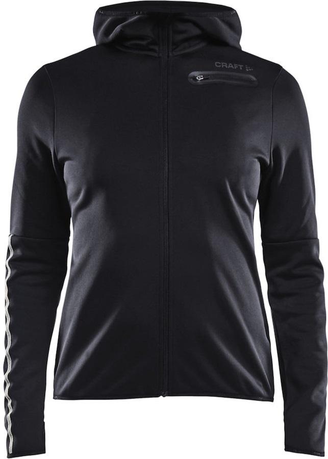 Craft Eaze Jersey Hood Quick Dry Women's Full-Zip Jacket, XS Black