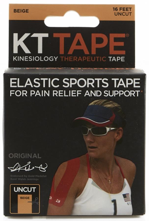 KT Tape Cotton Original Uncut Kinesiology Tape, 16ft Beige
