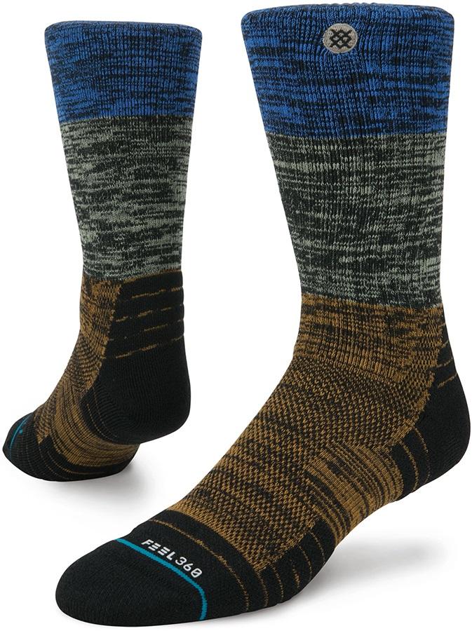 Stance Perrine Hike Crew Walking/Hiking Socks, M Brown