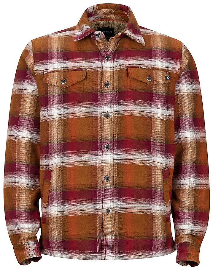 Marmot Adult Unisex Ridgefield LS Insulated Flannel Shirt, S Dark Rust