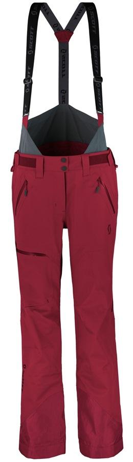 Scott Vertic 3L Women's Snowboard/Ski Pants, S Mahogony Red