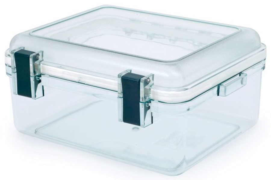 GSI Outdoors Lexan Gearbox Crushproof Travel Storage Case, M Clear