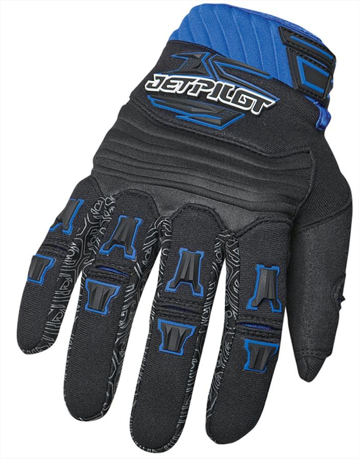 JetPilot Race Jet Ski PWC Gloves Black Blue