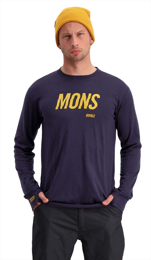 Mons Royale Yotei Tech Long Sleeve Merino Wool Top S 9 Iron